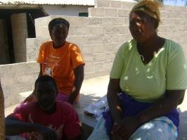 Victims of demolition at Latriya